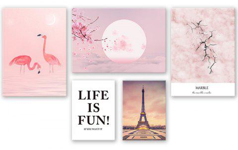 3PCS W449 Letter Swan Tower Sunset Canvas Print for Home Decoration - multicolor