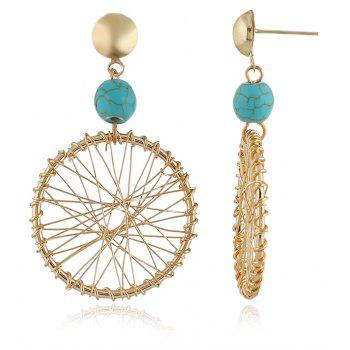 Boucles d'oreilles Temperament Pendentif Fashion Dream Catcher - Lagune Bleu