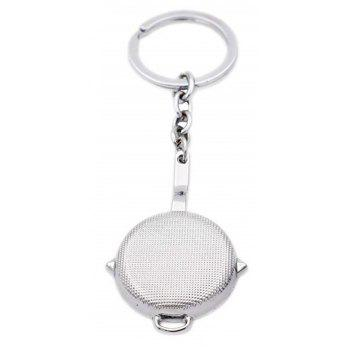 Hot Game Battlegrounds Pan Model Key Chain Toy - SILVER