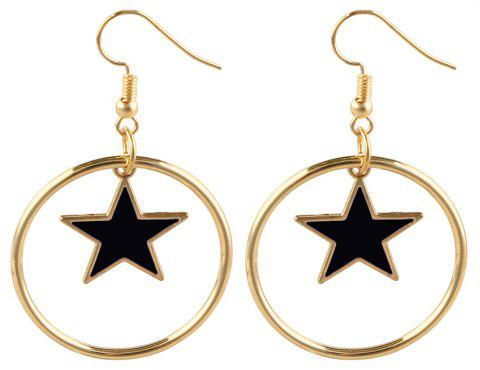 Fashion Earring with Big Circle of Personality - BLACK
