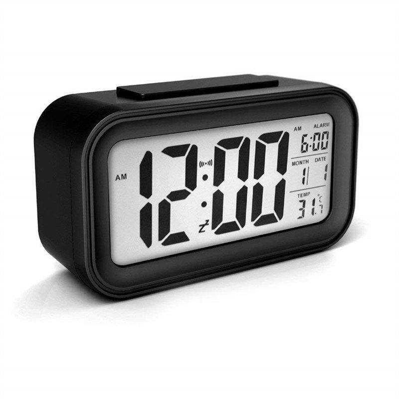 Creative Timer Calendar Temperature Alarm Clock - BLACK