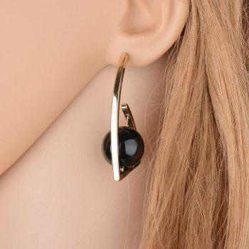 Fashionable Temperament Round Beads Earrings - MIRROR BLACK
