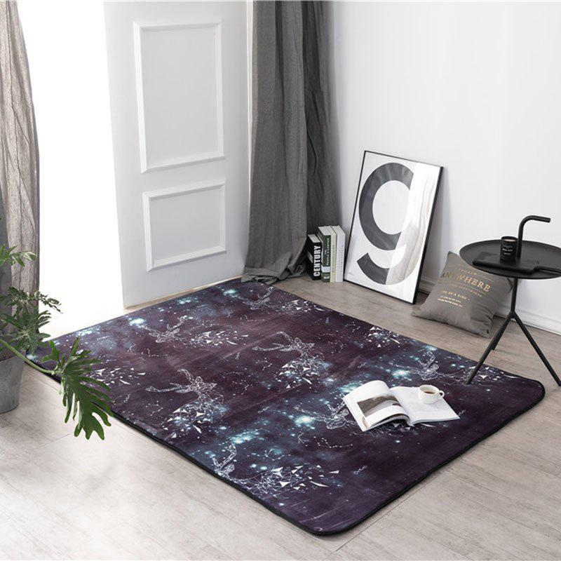 New Living Room Carpet Floor Tea Table Window Mat  Sky Antlers - multicolor A 45厘米*75厘米