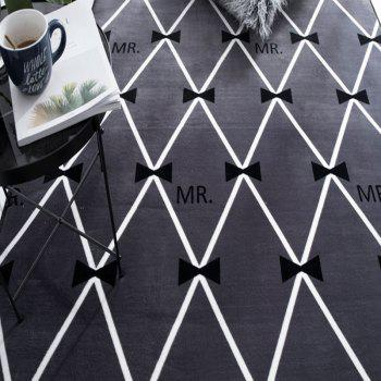 New Living Room Carpet Floor Tea Table Window Mat  Mr. Bow Tie - multicolor A 85厘米*185厘米