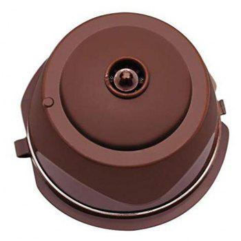 Refillable for Nescafe Dolce Gusto Capsules Reusable Pods Filters Cup - BROWN