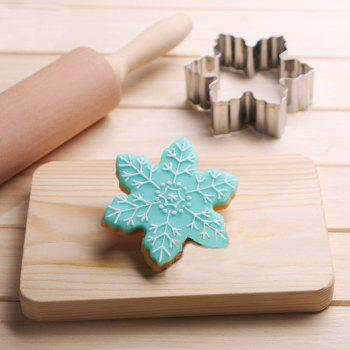 Snowflakes Cookies Cutter Stainless Steel Biscuit Cake Mold Fondant Baking Tools - SILVER