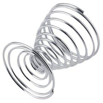 Stainless Steel Spring Wire Tray Boiled Egg Cups Holder Stand Storage Eggs Tools - SILVER