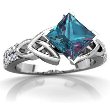 Exquisite Jewelry Princess Mystic Rainbow Ring - BLUE GREEN US SIZE 6