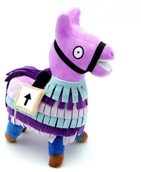 25cm Hot Game Llama Plush Toy Soft Stuffed Doll - HELIOTROPE PURPLE