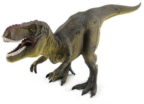 Tyrannosaurus Rex Dinosaur Toys Action Figure Animal Model Collection Learning - ARMY BROWN