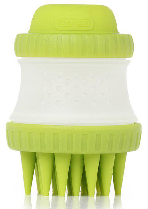 Pet Cleaning Beauty Tool Bath Massage Brush - SLIME GREEN