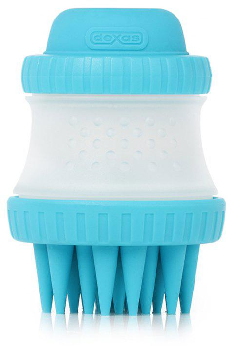 Pet Cleaning Beauty Tool Bath Massage Brush - CRYSTAL BLUE