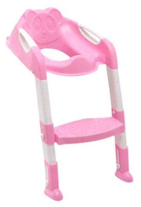 Children'S Folding Toilet Seat - PINK ROSE