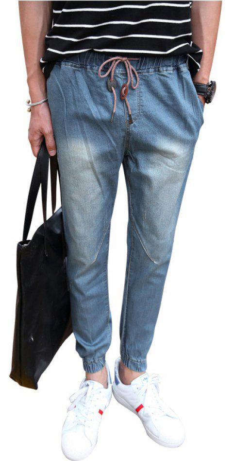 Men's Fashion Casual Jeans - DEEP BLUE M