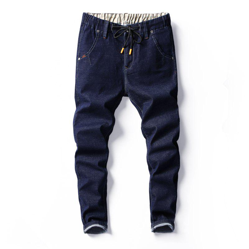 Men's Fashion Trend Elastic Jeans - DEEP BLUE 29