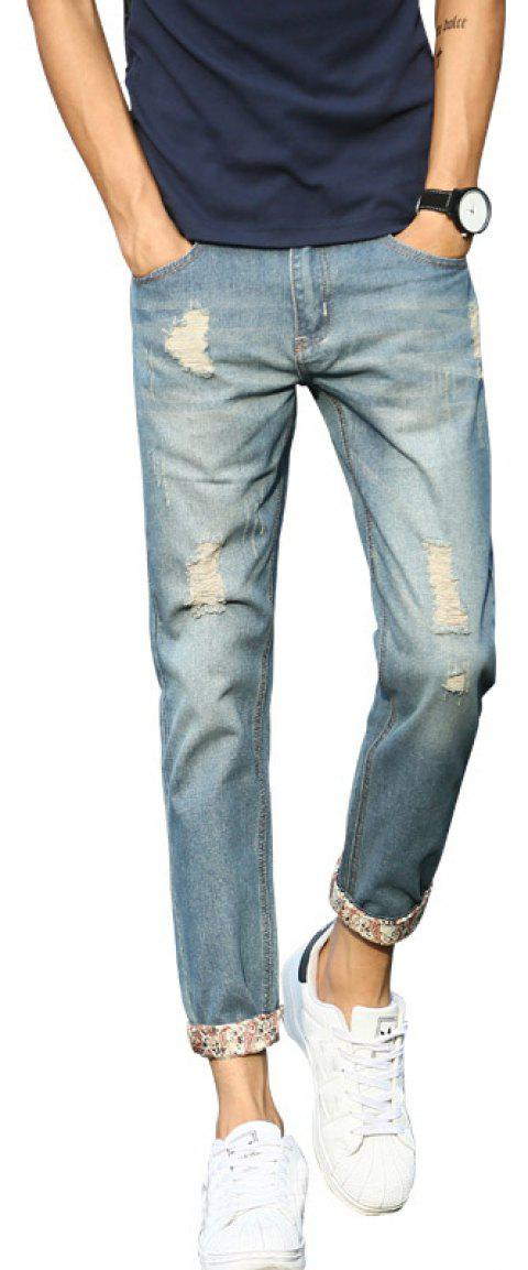Men's Slim Stretch Casual Jeans - LIGHT BLUE 30