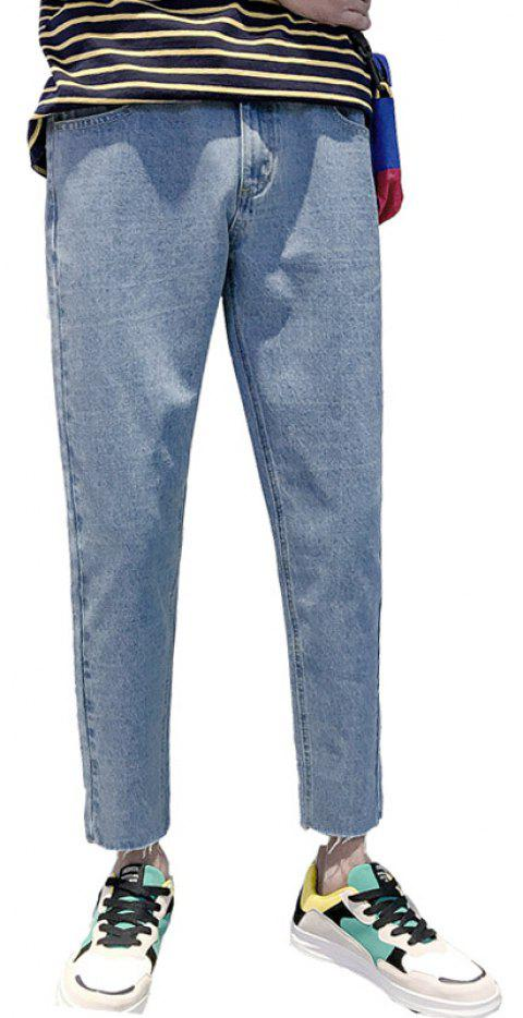 Men's Slim Stretch Casual Fashion Jeans - LIGHT BLUE 32