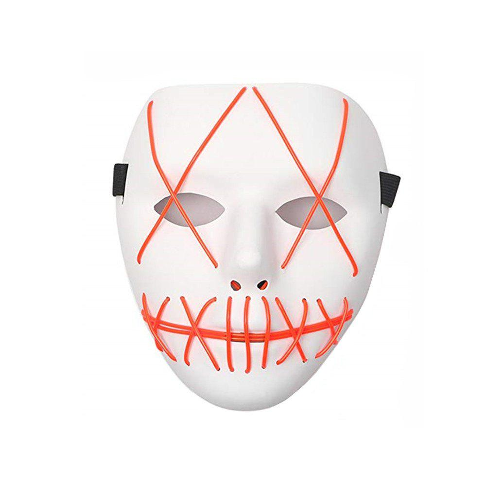 Frightening Wire Halloween LED Light Up Mask for Festival Parties - RED