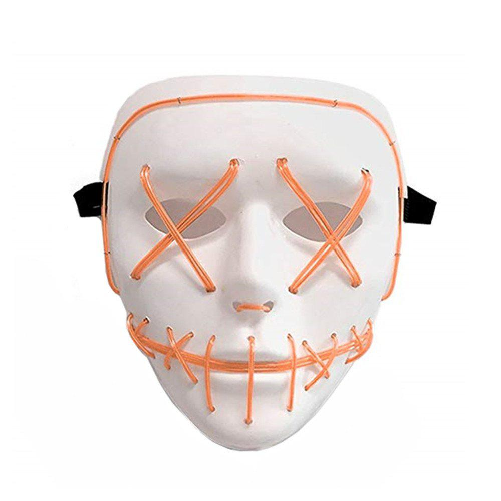 Frightening Wire Halloween LED Light Up Mask for Festival Parties - ORANGE