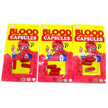 3PCS Monster Toy Blood Capsule Tricky Prop - RED
