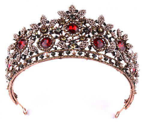 Bride Accessory Vintage Red Crown - DEEP COFFEE 7.5 X 34.5CM