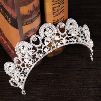 Bride Accessory Princess Crystal Crown - WHITE 25 X 4.5CM