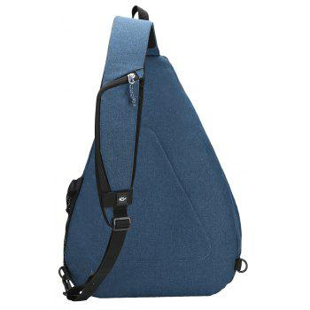 Kimlee Sling Backpack Canvas Chest Crossbody Travel Water Resistant Shoulder Bag - ROYAL BLUE