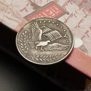 Eagle Pattern Old Brass Foreign Silver Dollar Bick Commemorative Coin - SILVER