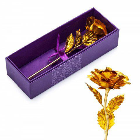 24K Gold Foil Artificial Rose Flower Best Gift - GOLD