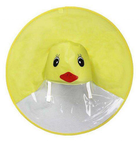 Small Yellow Duck Funny Rain Hat Umbrella Children Adult Folding Umbrella - YELLOW