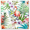 Flamingo in the Flowers Print Art - multicolor