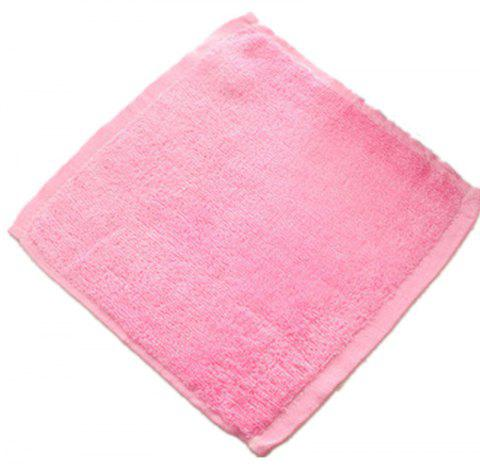 Bamboo Fiber Beauty Face Cloth Comfortable Wood Towel Small Squares - CARNATION PINK