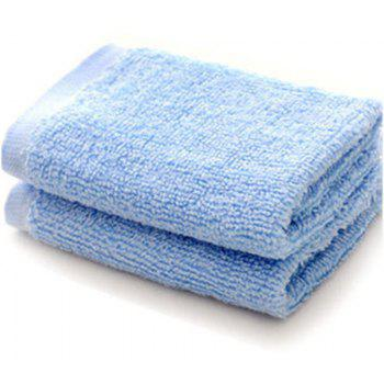 Bamboo Fiber Beauty Face Cloth Comfortable Wood Towel Small Squares - BLUE ANGEL