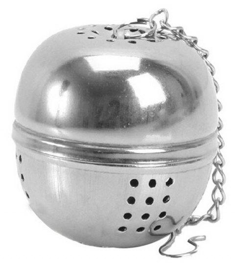 Stainless Steel Ball Tea Infuser Mesh Filter Strainer Loose Leaf Spice Kitchen - SILVER