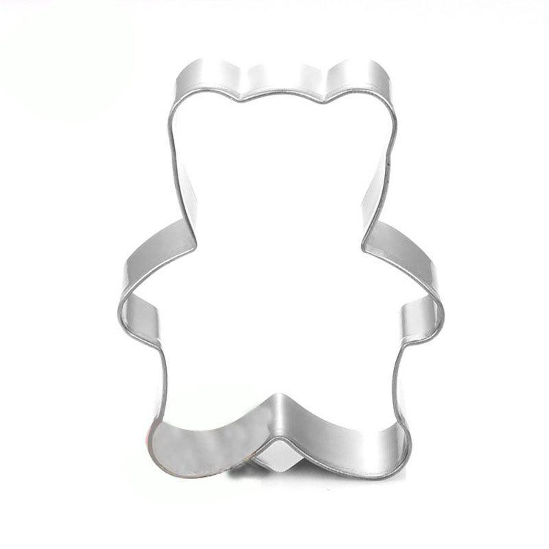 Little Bear Cookies Cutter Stainless Steel Biscuit Cake Mold Fondant Baking Tool - SILVER