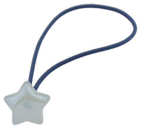Colorful Resin Star Charm Elastic Hairband Rope - CORAL BLUE