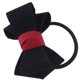 Elastic Rope Chain with Colorful Flannel Bowknot Headband - BLACK