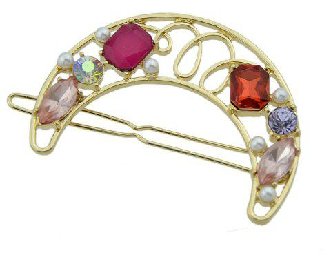 Cute Lovely Stone with Rhinestone Geometry Shape Hairband - LAVA RED
