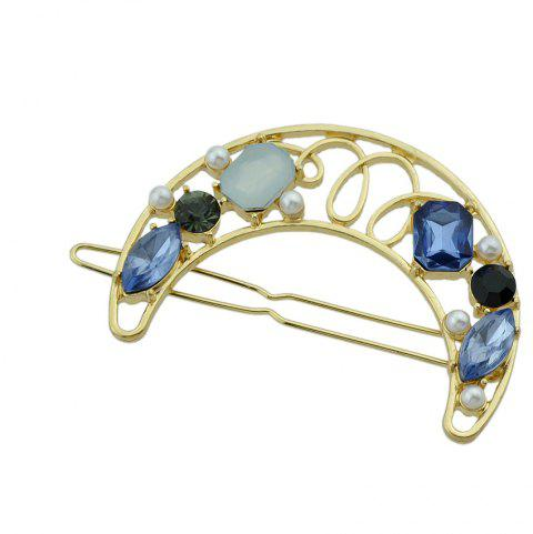 Cute Lovely Stone with Rhinestone Geometry Shape Hairband - SAPPHIRE BLUE