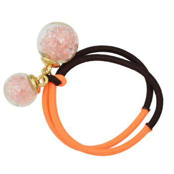 Candy Color Elastic Rope Bead Decoration Headband - multicolor B