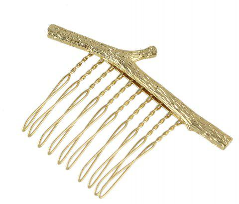 Simple Model Metal Branch Hair Comb for Women - GOLD