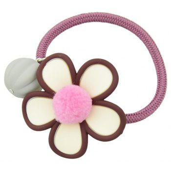 Simple Model Elastic Rope with Flower Hairband - RED WINE
