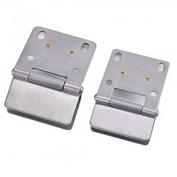 Pivot Hinge Kit Zinc Alloy Shower Hinge Glass Door Double Clamp Clip 2pcs - multicolor D