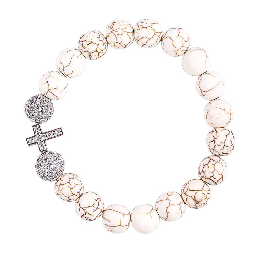 Personality New Style Silver Cross Bracelet - SILVER