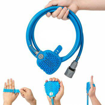 Pet Bathing Comfortable Massager Shower Tool Cleaning - BLUE