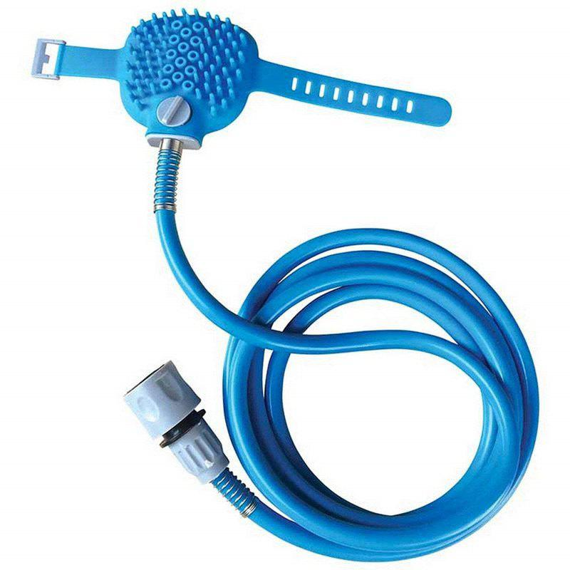2018 Pet Bathing Comfortable Massager Shower Tool Cleaning BLUE In ...