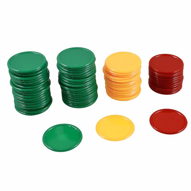68PCS Game Chips Plastic Learning Counting Counters Tokens Mini Poker - multicolor A
