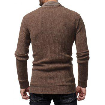 Trendy Solide Couleur Simple Casual Cardigan pour les hommes Veste Slim sauvage Top - Camel Marron 2XL