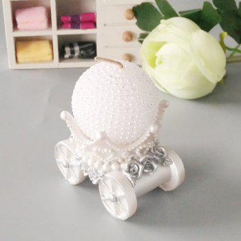 Exquisite Wagon Carriage Candlestick - CRYSTAL CREAM