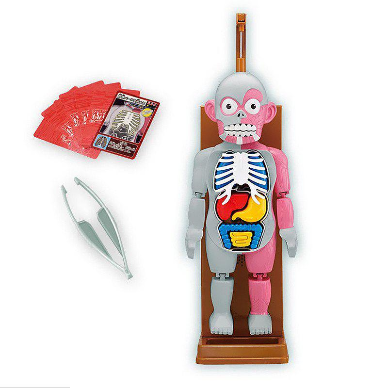 Halloween 3D Puzzle Human Body Organ Model Horror Spoof Tricky Toys Game - multicolor A